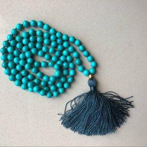 Satya Jewelry 108-Beas Turquoise Marla Necklace